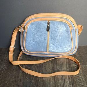 Valentina Leather Crossbody Bag - Periwinkle